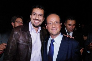 Zacharia Ben Amar et François Hollande