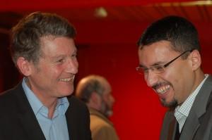 Zacharia Ben Amar et Vincent Peillon ministre de l'Education lors d'une réunion de travail