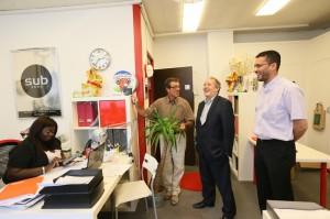 Visite de la pépinière d'entreprises de Rueil