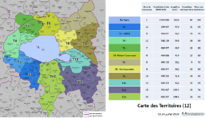 Carte des territoires de la Métropole du Grand Paris